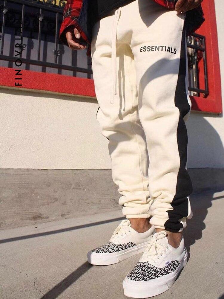 2019 Kanye West Trousers Justin Bieber Sweatpants Side Stripe Jogger Pants Elastic Waist Hip Hop Pants Streetwear