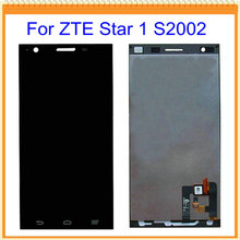 100% New For ZTE Star 1 S2002 LCD Screen Display with Touch Screen Digitizer Assembly Black Free Shipping
