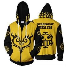 3D Print Anime One Piece Sweatshirt Hoodie Cosplay Costume Jacket Coats New