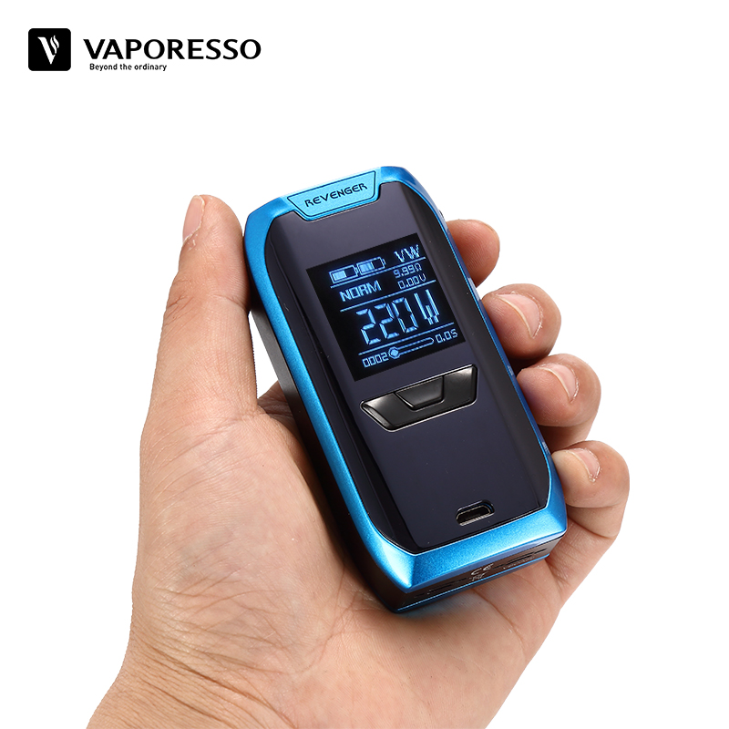 Original Vaporesso Revenger Mod Electronic Cigarette Vape 220W 510 Box Mod Compatible with Vaporesso NRG Tank without 18650 Cell vaporesso vape cigarette revenger x kit electronic cigarette with nrg tank and 220w touch bottom mod power by 18650 battery cell