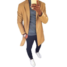 YJSFG HOUSE Fashion Men s Wool Blends Jackets Plus Size Trench Coats Warm Thicken Male Jackets