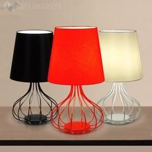 купить Nordic Modern Desk Light LED Iron Fabric Lamps Bedroom Living Room Study Reading Lights Hotel Room Decoration Table Lamp по цене 4688.14 рублей