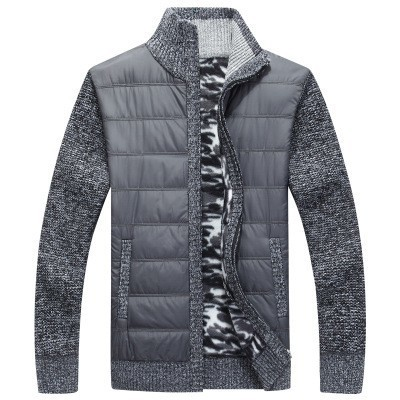 2019 New Mens Thick Sweater Coat Male Autumn Winter Down Sweatercoat Black Blue Gray Zipper Sweater Jacket Outerwear M-3xl Men's Clothing
