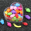 2016	New arrive TOP mixed Fruit beads acrylic beads Children Puzzle Recognition Beads DIY (100 piece) for jewelry making