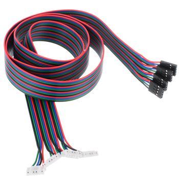 4pcs Silicon Rubber Stepper Motor Wire 3D Printer 4-Pin Stepper Motor Cable  100cm for NEMA 17 Stepper Motor