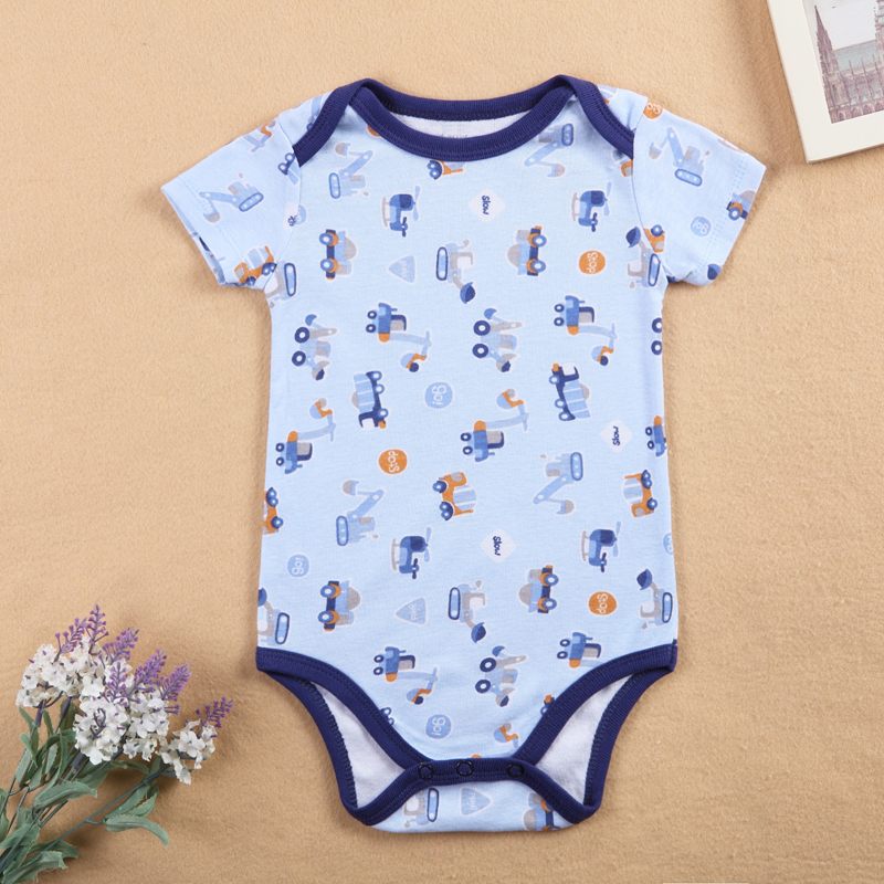 3 pieces/set Cute Baby Bodysuit Infant Jumpsuit Overall Short Sleeve Onesie Baby Bodysuit Baby Cotton Baby Summer Clothes
