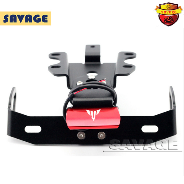 For YAMAHA MT07 MT-07 FZ-07 2014-2016 Motorcycle Fender Eliminator Registration Plate Bracket License Plate Holder LED Light Red motorcycle tail tidy fender eliminator registration license plate holder bracket led light for ducati panigale 899 free shipping