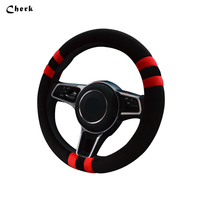 Cherk Universal Winter Soft Short Fur On Steering Wheel Cover Handbrake Automatic High Quality Warm Super