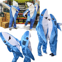 Adults Kids Halloween Christmas Cosplay Costume Shark Stage Fancy Dress Jumpsuit