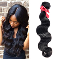 EVET Brazilian Hair Bundles Virgin Body Wave Brazilian Hair Weaves 1pcs 6A Grade 100% Unprocessed Human Hair Extensions