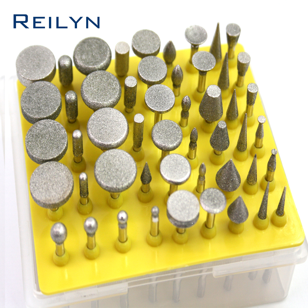 3mm Diamond Grinding Bits 50 Pcs Electroplated Diamond Bit Dremel Polishing Head Grinding Burr For Dremel Drill Tools