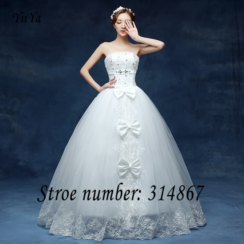 Buy free shipping 2016 new bridal white for Wedding dress free shipping