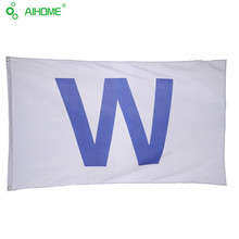 Chicago Cubs 'W' Flag Win Wrigley Field Team Flag Banner High-quality Polyester USA 3x5FT Sports Football Funs Flags 150*90cm