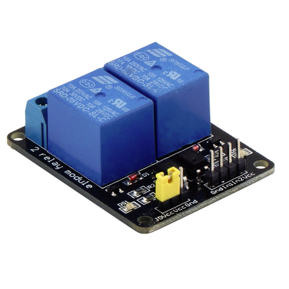 5V 2 Channel Relay Module Shield For Arduino ARM PIC AVR DSP MCU Electronic