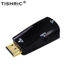 Male to Female for HDMI to VGA Converter With Audio Cable for PC Laptop Tablet Support 1080P HDTV Adapter