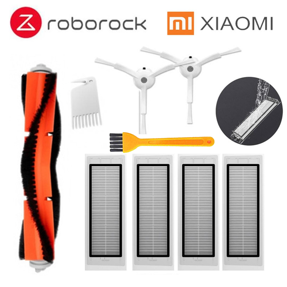 2 * Side Brush + 4* HEPA Filter + 1* Main Brush Suitable For Xiaomi Vacuum 2 Roborock S50 S51 Xiaomi Roborock Xiaomi Mi Robot