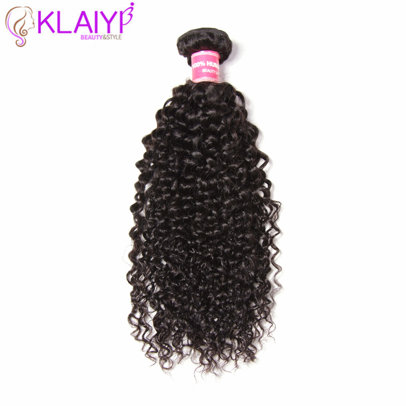 Klaiyi Hair Human Weave Jerry Curly Hair Texture 100 Cuticle Remy