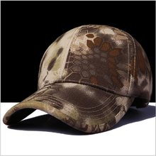 efef5c3376014 Tactical Hat Army Military Caps Outdoor Hunting Hiking Climbing Sport Cap  Fishing Snapback Hat AirSoft Bone Gorras Black Python
