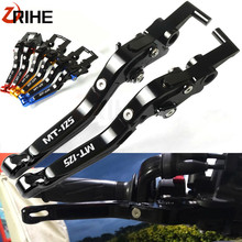 For YAMAHA MT125 MT 125 MT-125 2015-2016 NEW Motorcycle Accessories CNC Motor Folding Extendable Adjustable Brakes Clutch Levers цены