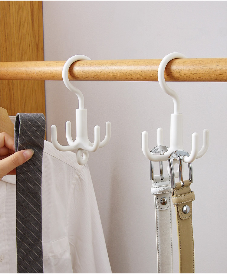 4 Pack Rotating Handbag Hanger Rack Closet Storage Organizer Hooks for Bag Belt Tie Scarf AUEAR