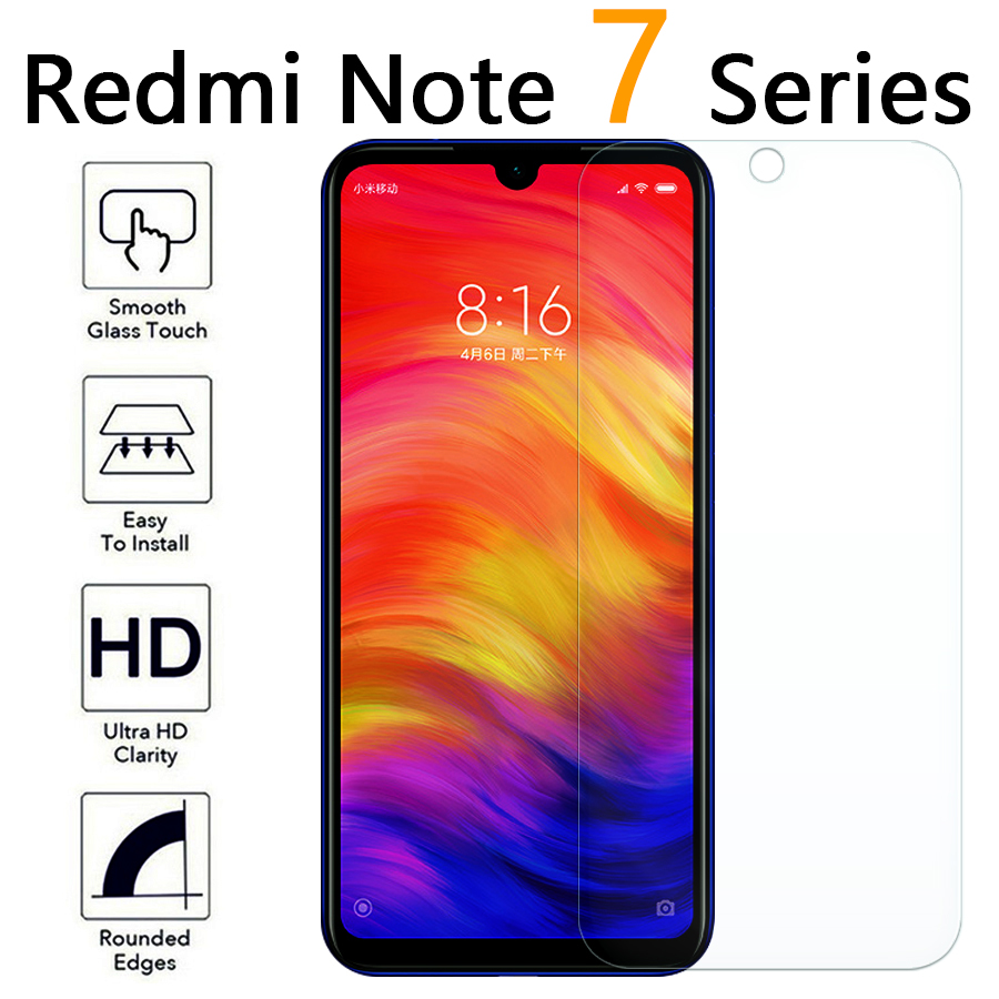 for xiaomi redmi note 7 pro screen protector on ksiomi readmi note 6 pro tempered glass protective film red 6pro glas 7pro tremp