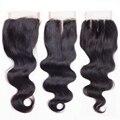Rosa cabelo produtos não transformados Brasileiro virgem do cabelo encerramento virgem do cabelo brasileiro da onda do corpo brasileiro fechamento do laço do cabelo