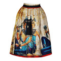 Hot selling 3D pharaoh printer high waist sexy pleated tutu skirts for women 2016 summer brand skirt jupe faldas saia midi skirt