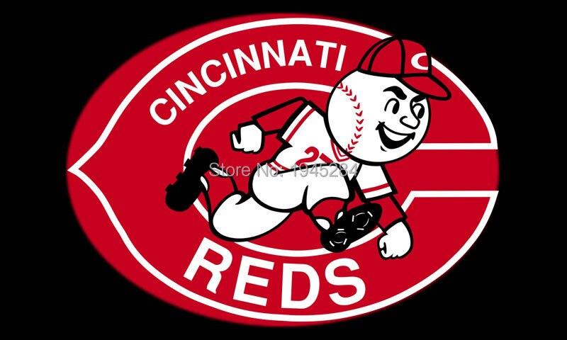 MLB Cincinnati Reds Flag Banner Black 007 New Size 3x5ft 90x150cm Polyester 8816, free shipping