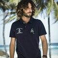 Ak club brand polos camisa de marinero ancla bordado polo para hombres 100% algodón súper suave camisa de polo ocasional bolsillo delantero 1516016