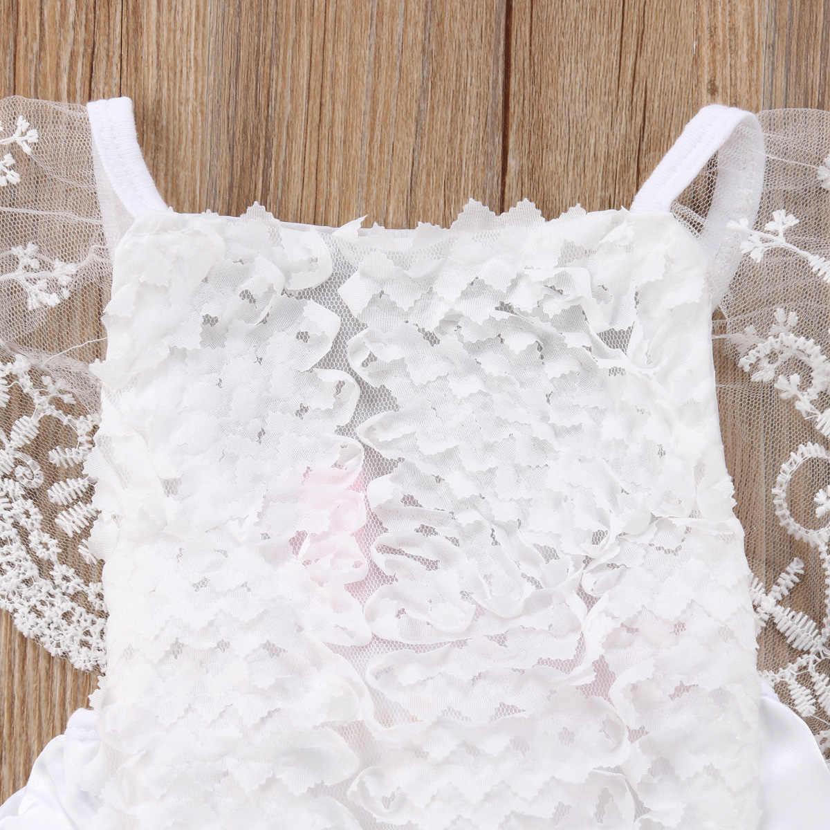 9e28a08dd7d08 New Kids Baby Girl Clothes Lace Floral Bodysuit Jumpsuit Sunsuit Outfit  Stock Babys Sleeveless Fashion Clothe Baby Clothing Sets