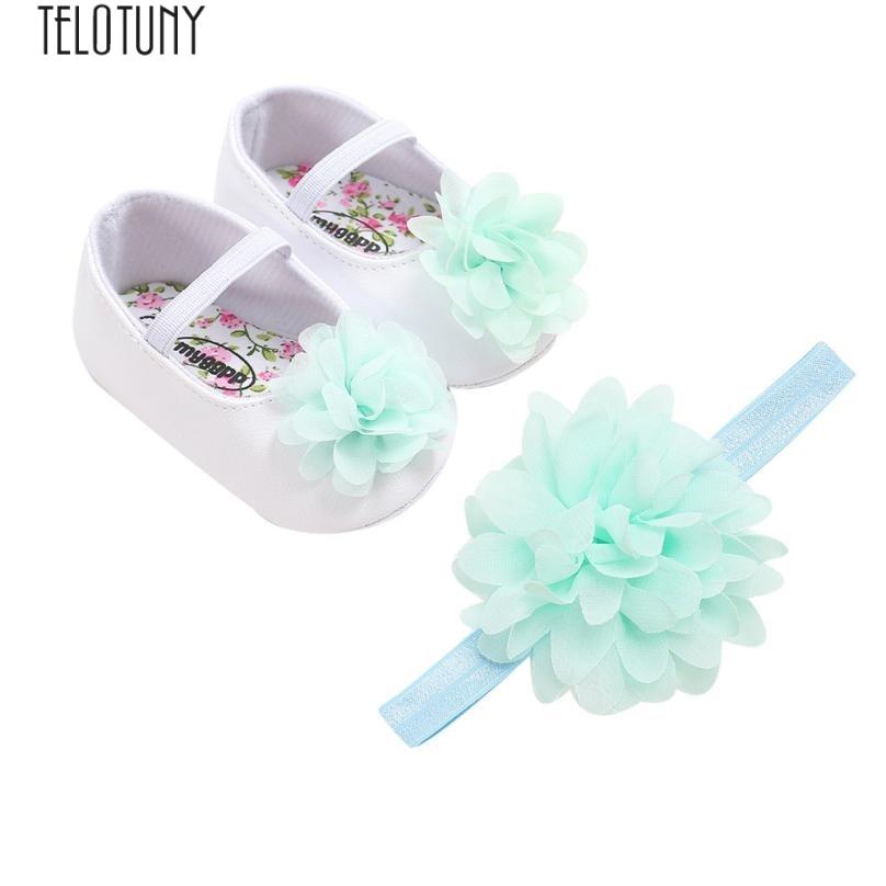 5d2ba386f9701 Acheter Arloneet Bébé Premiers Marcheurs FLEUR Chaussures Fille Chaussures  De Fleurs + Ceinture Cheveux Toddler First Walkers Kid Chaussures L0810 De   35.54 ...
