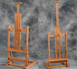 Caballete de dibujo plegable, caballete de pintura al óleo de elevación multiusos, soporte de exposición para artistas, tablero publicitario de cavalete pintado de madera