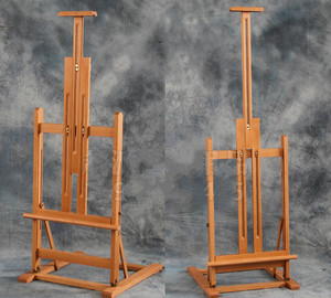 Image 1 - Multi purpose lifting oil painting easel folding sketch easel artist exhibition stand wood painting cavalete advertising  board