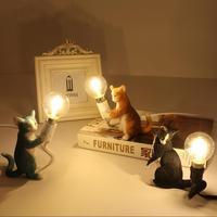 LED Cat Lamp Kids Bedroom Children luminaria table lava lamp Indoor House table Nursery Animal Night Lamp For Chirtmas Gift