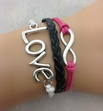 1pcs Infinity bracelet - antique silver,bracelet for boys and girls,charm bracelet 662 min order 10$(China)