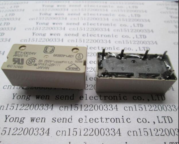 HOT NEW relay ST1-DC24V ST1DC24V 24VDC DC24V 24V 6PIN new cad50bdc dc24v tesys d series contactor control relay 5no 0nc