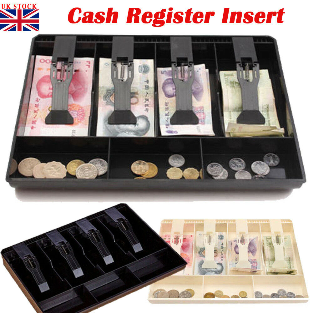 Portable Cash Drawer Register Till Insert Tray Replacement Coin Cashier Money Storage Drawer Box For Supermarket Restaurant