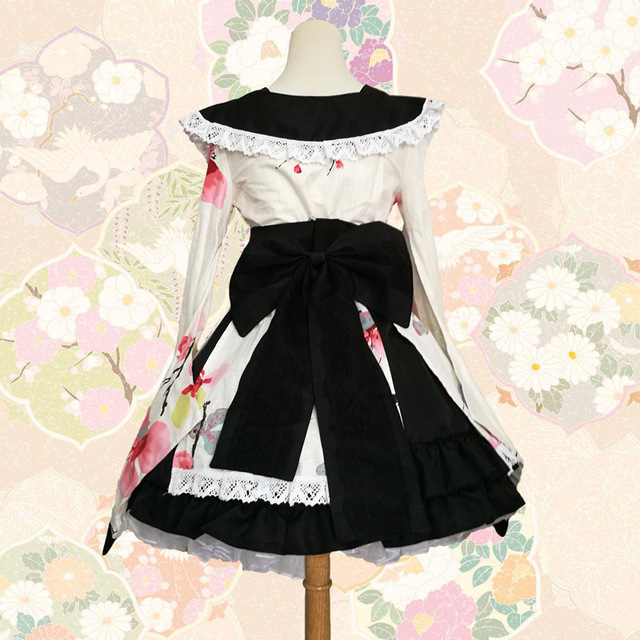 SEEDRULIA  Anime Cosplay Lolita Halloween Fancy Dress Japanese Kimono Lovely Cos Dress 5