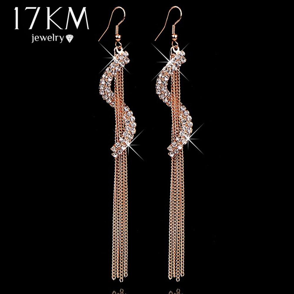 17KM Christmas gifts Brand Charm bridal jewelry Geometric letters rhinestone tas