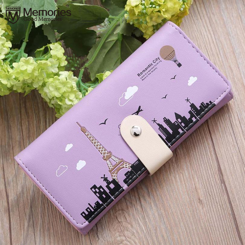 Women Wallet Purses Girls Brand Coin Purse Leather Fashion Tower Long Credit Card ID Holder Slim Pocket Case Carteira 2018 Gift
