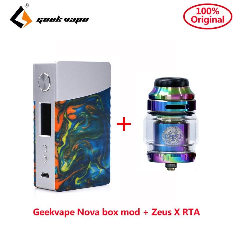 Original Geekvape Nova box mod 200w powered by dual 18650 AS200 chip for zeus RTA atomizer