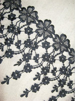 Black venice cascading Lace Trim, antique Lace trim, tassel trim lace, Necklace Jewelry Leaves Branch Lace Home Decors10 yards