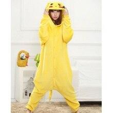 2e62054c5734 Cute Cartoon Pikachu Onesie Adult Women Kigurumi Long Sleeve Hooded  Homewear Pyjama pikachu One-piece