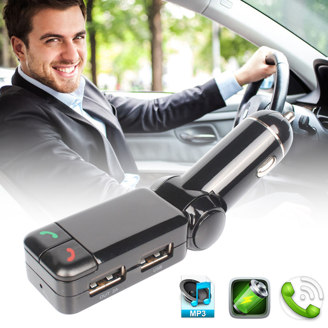 FM Transmitter Hands Free Bluetooth Car Kit