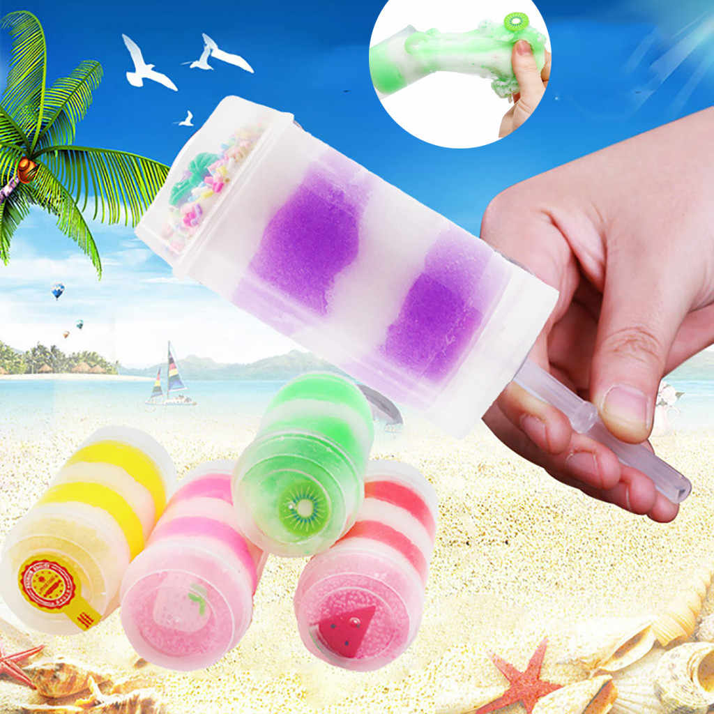 120ml Squishies Clay Toys Color Mixing Cloud Slime Putty Scented Stress Kids Clay Toy Ice cream mud slime color fruit non-stick