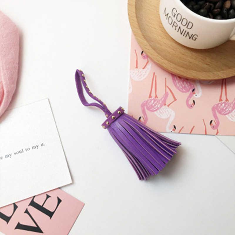 2 adet perçin püskül ebedi çiçek telefon kılıfı anahtarlık anahtarlık paketi asın DIY malzeme kuru çiçek ponpon bezi Dentelle