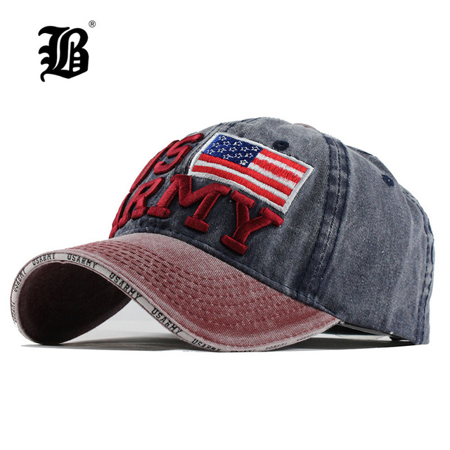 b2d695b066f  FLB  100% Washed Cotton Baseball Caps Men Summer Cap Embroidery Casquette  Dad Hat for Women Gorras Planas snapback Hat ArmyF128
