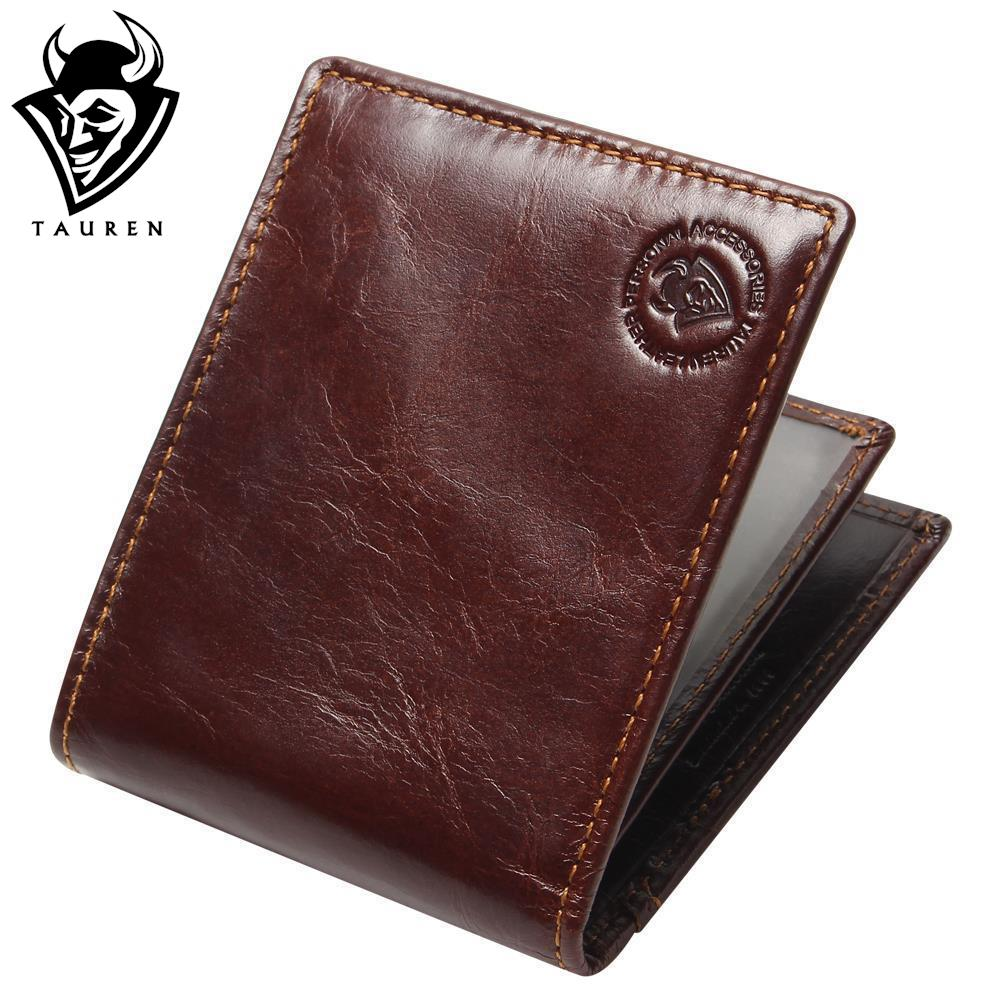 New RFID BLOCKING Genuine Leather Men's Wallets Male Bifold Purse Small Dollar Wallet Cowhide Bifold Purse Card Holders 2017 new retro man canvas wallets male purse fashion card holders small zipper wallet new designed multi pockets purse for male