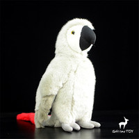 plush toy artificial animal gift big bird Lovely Macaw African Grey Parrot Plush toy doll simulation 28cm