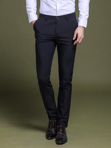 Men Pants Casual Trousers Classic Business Male Straight Cotton Summer High-Quality Fashion